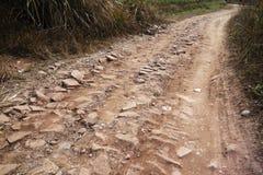 土和石头路 免版税库存照片