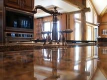 家庭内部厨房 免版税库存照片
