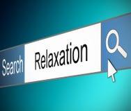 Принципиальная схема релаксации. Стоковое Изображение RF