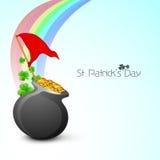 爱尔兰语四叶子幸运的三叶草光芒 免版税库存照片
