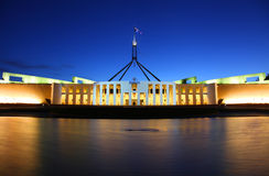 澳大利亚议会在堪培拉安置 免版税库存照片
