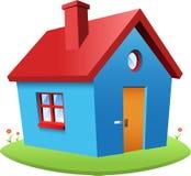 蓝色向量房子 库存照片