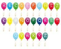 字母表气球 免版税库存照片