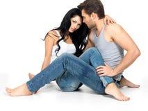 在爱的美好的性感的夫妇 免版税库存照片
