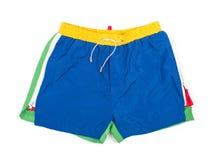 在一个空白背景的男性短裤 库存照片
