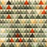 难看的东西三角无缝的模式 免版税库存图片