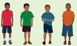 Черные мальчики начальной школы Стоковое Фото