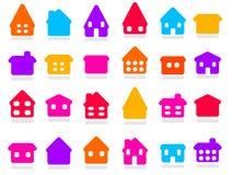 Домашние иконы Стоковое Изображение RF