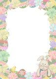 与兔宝宝的复活节彩蛋边界 免版税库存照片