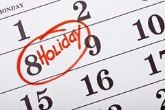 与日期的日历 免版税库存照片