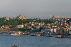 在伊斯坦布尔的看法 免版税库存图片