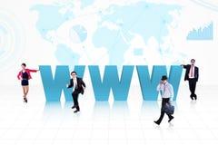 Интернет дела глобальный Стоковая Фотография RF