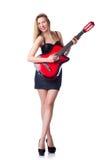 女性吉他演奏员 库存照片