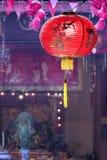 在寺庙的中国灯笼 库存照片