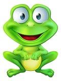 逗人喜爱的青蛙字符 免版税库存照片