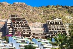 属性建筑危机。 特内里费岛,西班牙。 库存图片