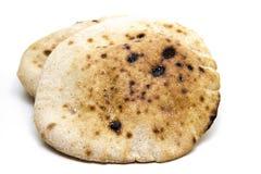 来回平面的面团结块面包 免版税库存图片