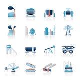 Иконы тяжелой индустрии Стоковое фото RF