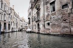 Σκοτεινή σκηνή της Βενετίας Στοκ εικόνες με δικαίωμα ελεύθερης χρήσης