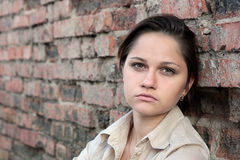 Молодая унылая женщина Стоковые Изображения RF