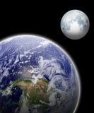 地球和月亮 免版税库存图片