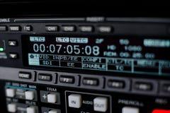 广播录象机记录员 免版税库存图片