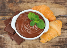 Κρέμα σοκολάτας Στοκ Εικόνα