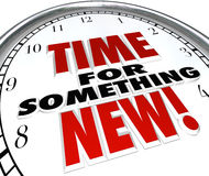 事的时刻新的时钟更新升级变动 免版税图库摄影