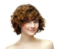 微笑的红头发人女孩 免版税库存照片