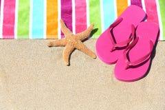 Тропическая принципиальная схема перемещения праздника каникулы пляжа Стоковая Фотография RF