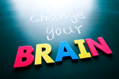 改变您的脑子概念 免版税图库摄影