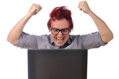 计算机愤怒 免版税库存照片