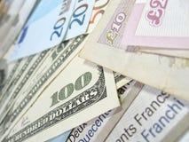 钞票货币世界 免版税库存照片