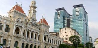 Δημαρχείο πόλεων Χο Τσι Μινχ Στοκ φωτογραφίες με δικαίωμα ελεύθερης χρήσης