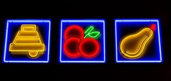 赌博娱乐场槽孔 免版税库存照片