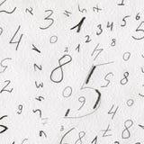 Χρωματισμένοι χέρι αριθμοί Στοκ φωτογραφίες με δικαίωμα ελεύθερης χρήσης