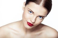Портрет Конца-вверх сексуальной кавказской молодой модели Стоковое фото RF
