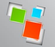 与五颜六色的正方形的背景 免版税库存照片