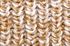 被编织的米黄纹理 库存照片