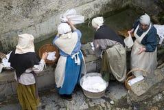 中世纪洗衣店 库存图片