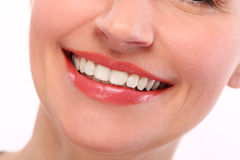 与牙的美好的微笑 免版税库存图片