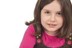 美丽的小女孩纵向  图库摄影