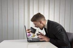 Похищение на интернете Стоковая Фотография RF