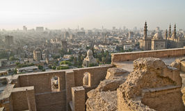 从城堡的开罗地平线 库存照片