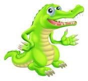 Иллюстрация крокодила шаржа Стоковое Изображение RF