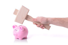 中断银行 免版税库存图片