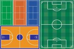 Αθλητικοί τομείς Στοκ εικόνα με δικαίωμα ελεύθερης χρήσης