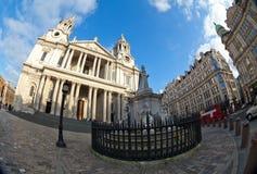 圣保罗的大教堂,伦敦,英国 库存图片