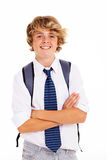 青少年的男孩学员 免版税库存图片