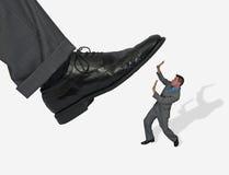 Бизнесмен принципиальной схемы шагнул дальше Стоковое фото RF